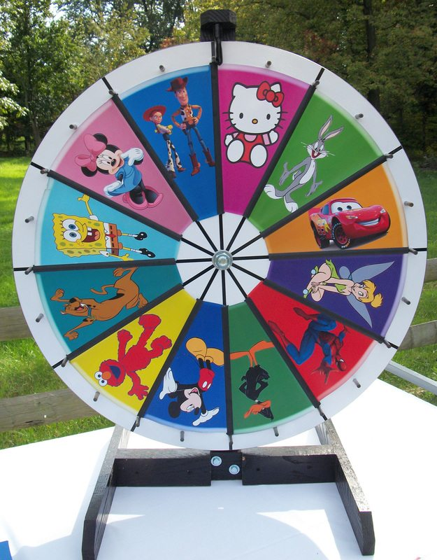 wheel spin carnival game inflatables mobile video game parties cleveland akron canton. Black Bedroom Furniture Sets. Home Design Ideas